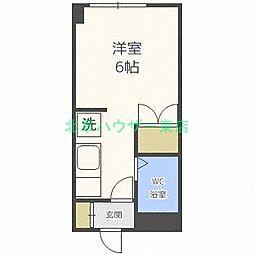北海道札幌市東区伏古八条3丁目の賃貸マンションの間取り