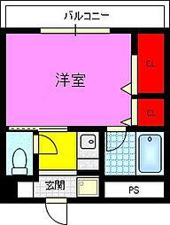 クレール住道[3階]の間取り