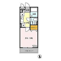 埼玉県草加市高砂2丁目の賃貸アパートの間取り