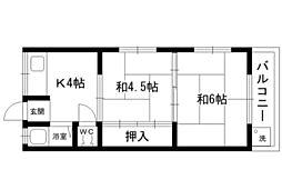 甲南マンション[2階]の間取り