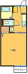 コーポYABE(B)[106号室]の間取り