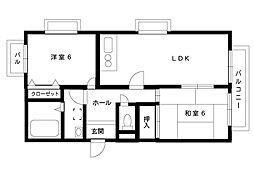阪神本線 深江駅 4階建[2階]の間取り
