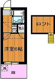 パレス竹越[1階]の間取り