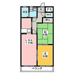 ピュアパレスNISHIKANI[4階]の間取り