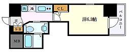 名古屋市営東山線 千種駅 徒歩11分の賃貸アパート 3階1Kの間取り