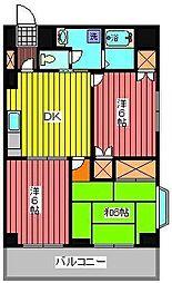 第二錦生コーポ[4階]の間取り