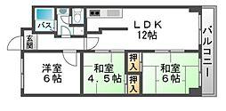 松本マンションII[2階]の間取り