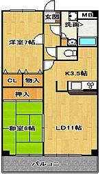 ガーデンヴィラクレセント[4階]の間取り
