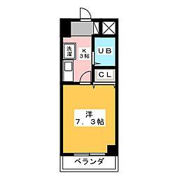 グランメールKAZU[6階]の間取り