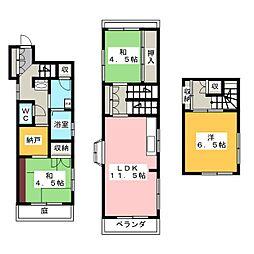 [一戸建] 静岡県静岡市葵区大岩2丁目 の賃貸【/】の間取り