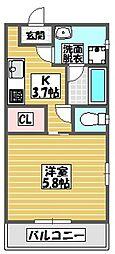 (仮)ミオナカンパニー店舗兼共同住宅(国場)303号室 3階1Kの間取り