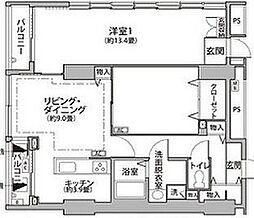 東京メトロ有楽町線 辰巳駅 徒歩9分の賃貸マンション 12階2LDKの間取り