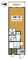 神奈川県横浜市瀬谷区三ツ境の賃貸マンションの間取り