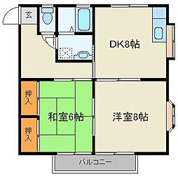 コーポラスサトー[2階]の間取り