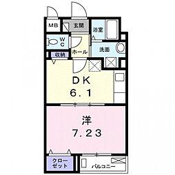 CoCo衣川[103号室号室]の間取り