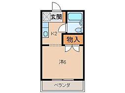 ハニカムIII[2階]の間取り
