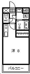 TYマンション[205号室]の間取り
