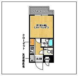 ピュアドームエレガンテ平尾[806号室]の間取り