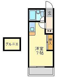 アイビスレジデンス西生田[203号室]の間取り
