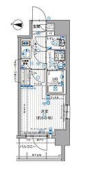 Osaka Metro谷町線 天神橋筋六丁目駅 徒歩4分の賃貸マンション 7階1Kの間取り