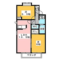 エミナンスKATO A棟[1階]の間取り