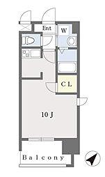 ALFACIO DIFOND 9階ワンルームの間取り