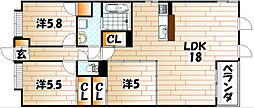 LEON篠崎[3号室]の間取り