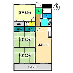 ロッジメントヨシムラ[1階]の間取り