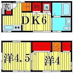 [一戸建] 東京都足立区日ノ出町 の賃貸【東京都 / 足立区】の間取り