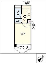 エトワール上条[3階]の間取り