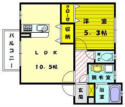 ソレーユ宗像[2階]の間取り