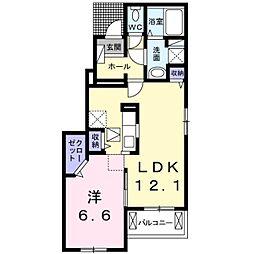 クレメント・3[1階]の間取り