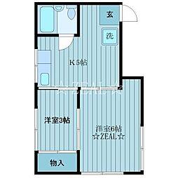 レジデンス岩田[2階]の間取り