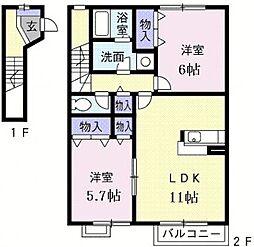 エクセルコートpartII[2階]の間取り
