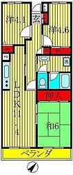 クレール新松戸[3階]の間取り