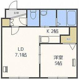 ローヤルハイツ栄通1丁目B棟[1階]の間取り