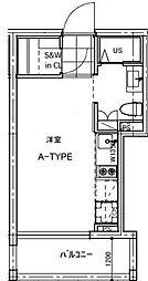 B CITY APARTMENT TACHIKAWA[103号室号室]の間取り