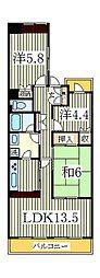 ラ・プレミール[4階]の間取り