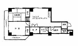 ニッケンマンション[6階]の間取り
