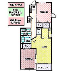 メゾン・ドゥ・ソレイユ B[103号室号室]の間取り