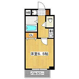 プレサンス京都二条城前[103号室]の間取り