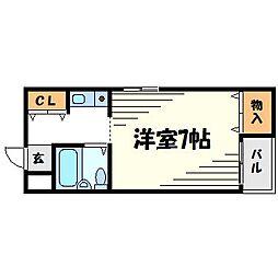 ハイツ大和II[2階]の間取り