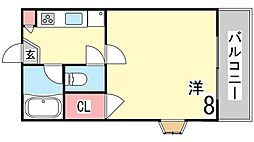 ステュディオ住吉[2階]の間取り