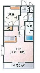 埼玉県久喜市外野の賃貸アパートの間取り