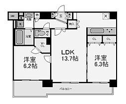 エステムプラザミッドプレイス[12階]の間取り