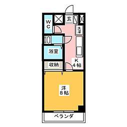 NAKAHARA II[1階]の間取り