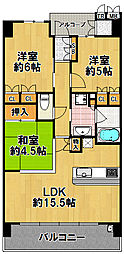 西九条アーバンコンフォート[5階]の間取り