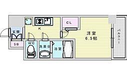 Osaka Metro御堂筋線 西中島南方駅 徒歩14分の賃貸マンション 7階1Kの間取り