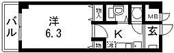 オークハイツ[803号室号室]の間取り