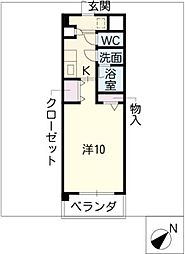 デュークK[2階]の間取り